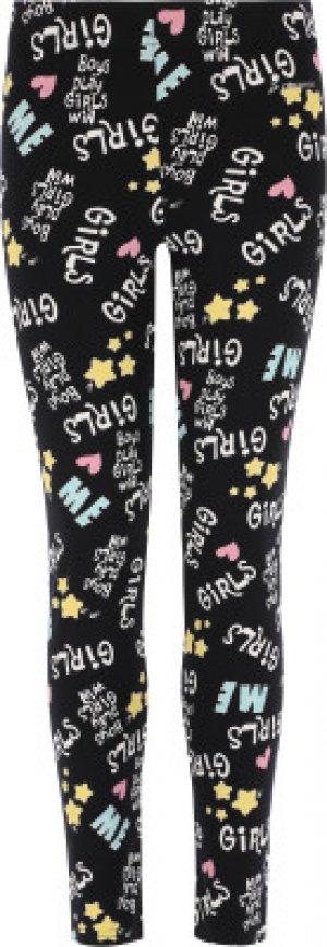 Легинсы для девочек , размер 152 Demix. Цвет: черный