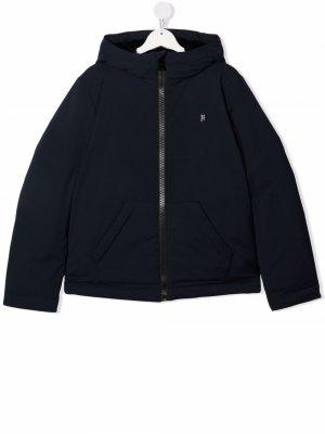 TEEN zip-up hooded padded jacket Herno Kids. Цвет: синий