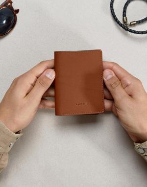 Коричневый узкий бумажник Dow Sandqvist. Цвет: коричневый