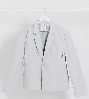 Серый нейлоновый пиджак свободного кроя COLLUSION