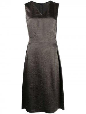 Knee-length V-neck dress Ann Demeulemeester. Цвет: зеленый