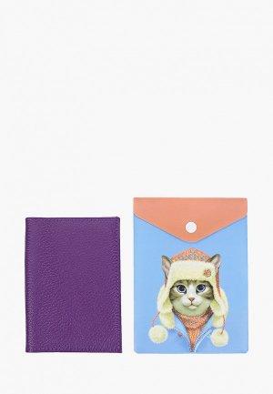 Обложка для документов Artio Nardini. Цвет: фиолетовый