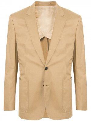 Строгий пиджак узкого кроя Gieves & Hawkes. Цвет: коричневый