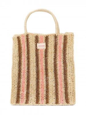 Пляжная сумка в полоску Bobo Choses. Цвет: нейтральные цвета