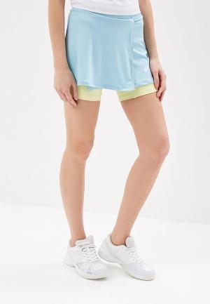 Юбка-шорты ASICS SKORT. Цвет: голубой