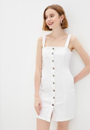 Платье джинсовое adL. Цвет: белый
