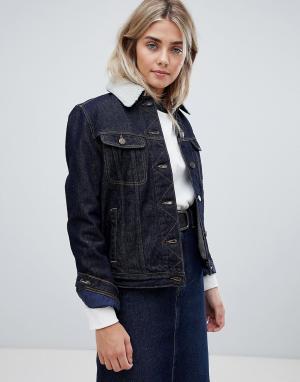 Джинсовая куртка с подкладкой из искусственного меха -Синий Lee