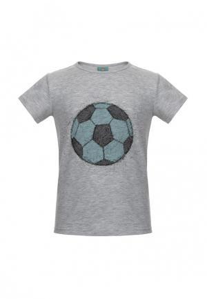 Футболка Lisa&Leo. Цвет: серый