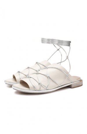 Кожаные сандалии Premiata. Цвет: белый