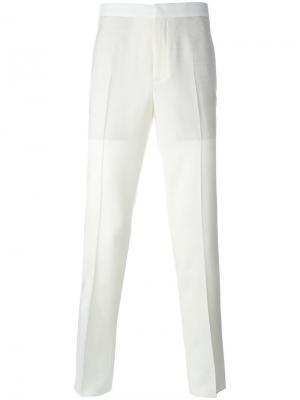 Классические брюки Neil Barrett. Цвет: телесный
