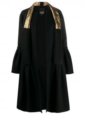 Пальто средней длины с оборками Gianfranco Ferré Pre-Owned. Цвет: черный