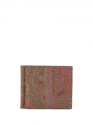 Бумажник с принтом пейсли ETRO. Цвет: коричневый