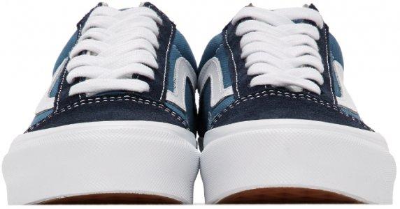 Blue & Navy OG Old Skool LX Sneakers Vans. Цвет: navy