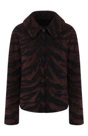 Укороченное пальто Alaia. Цвет: черный