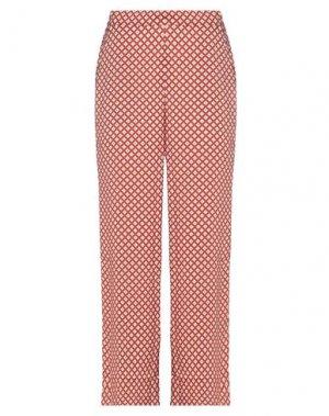 Повседневные брюки ICHI. Цвет: ржаво-коричневый