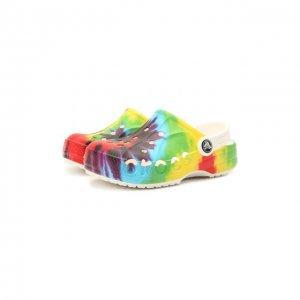 Сабо Baya Graphic Crocs. Цвет: разноцветный