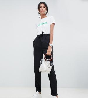 Брюки галифе с поясом оби ASOS DESIGN Tall-Черный Tall