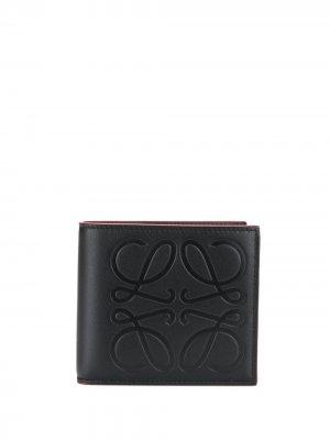 Бумажник с логотипом Loewe. Цвет: черный