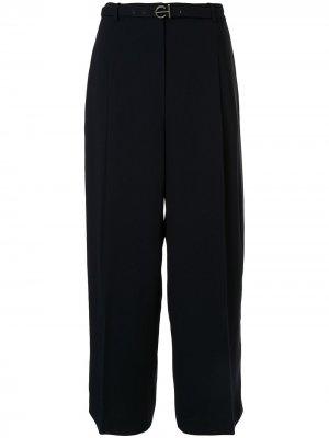 Креповые брюки Faye Elie Tahari. Цвет: черный