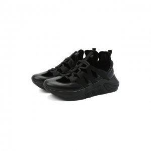 Комбинированные кроссовки Giorgio Armani. Цвет: чёрный