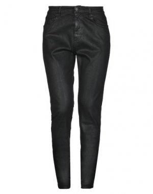 Джинсовые брюки CARE LABEL. Цвет: черный