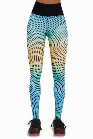 Leggings BAS BLEU. Цвет: blue, yellow, orange