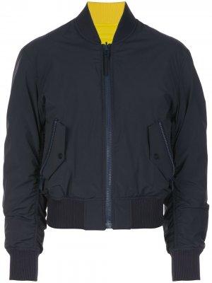Двусторонняя куртка-бомбер Silver Queen Aztech Mountain. Цвет: синий