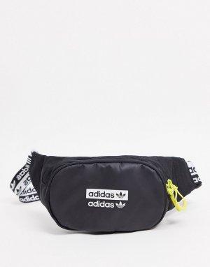 Черная сумка-кошелек на пояс RYV-Черный цвет adidas Originals