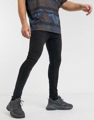Черные джинсы скинни -Черный Criminal Damage