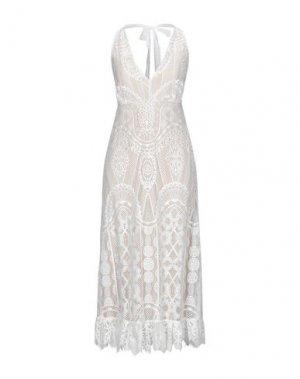 Длинное платье KAOS JEANS. Цвет: белый