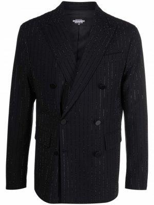 Декорированный пиджак Boston Dsquared2. Цвет: черный
